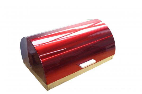 Кутия за хляб инокс червена
