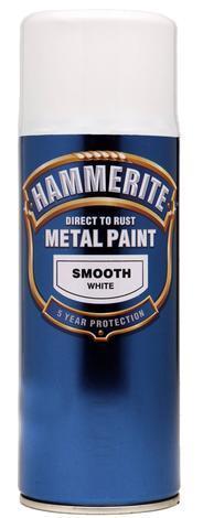 Спрей Hammerite 0.4л, бял гланц