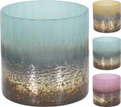 Свещник стъклен 10x10x11 см