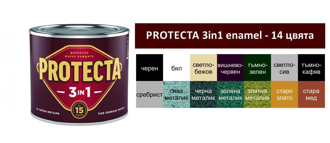 Протекта 3в1  2.5л, ефект тъмно зелена 2