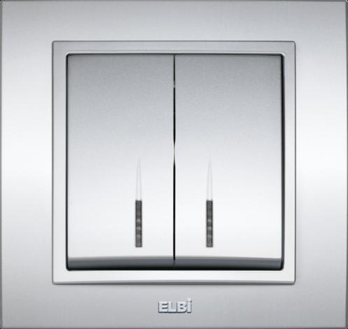 Zena мет.сив ключ двоен с LED