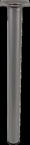 Метален крак 30x350мм сребърен