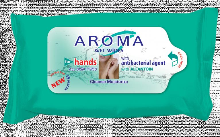 Мокри кърпички Aroma - за деца