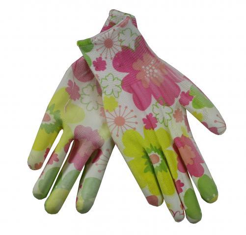 Градински ръкавици цветни PVC