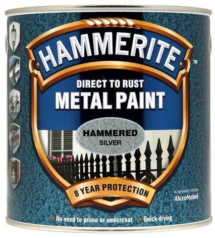 Боя за метал Hammerite 2.5л, сребро хамър ефект