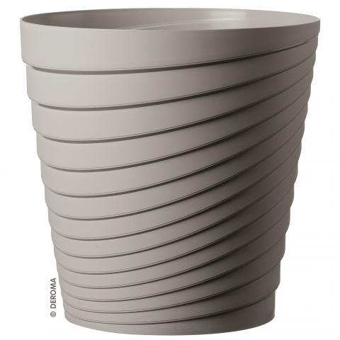 Саксия Слинки, ф35 см, цвят бетон