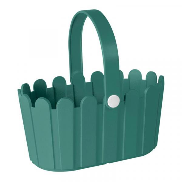 Кашпа-кошница 28х18 тюркоаз