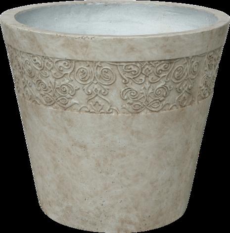 Саксия каменна Ф58,5 Н51 беж