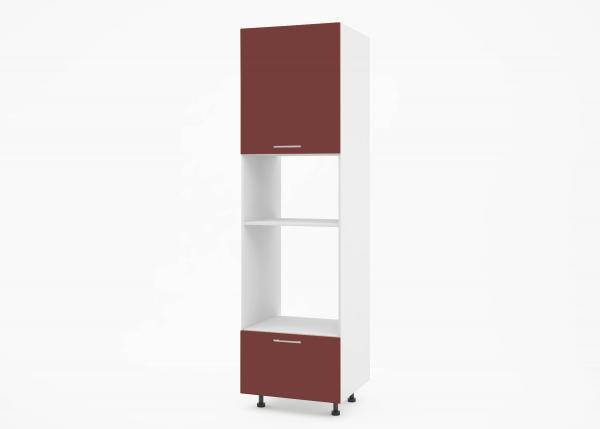 Крафт К2 колонен шкаф за фурна и микровълнова, бордо гланц
