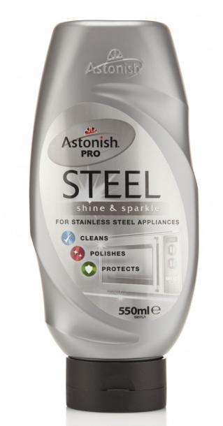 Крем за неръжд.стомана и метални тела  550мл Astonish