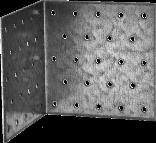 Ъгъл от перфорирани плоскости