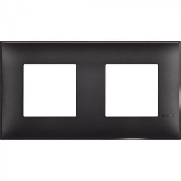 Рамка двойна черен сатен Bticino