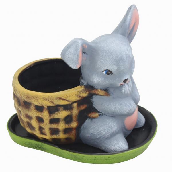 Саксия зайче с кошница