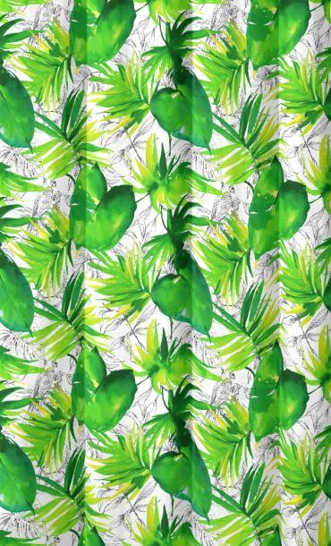 Перде Fabric TROPIC1 140 cm зелено
