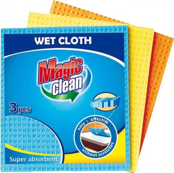 Мокри кърпи 3 бр. 15х15 см МС