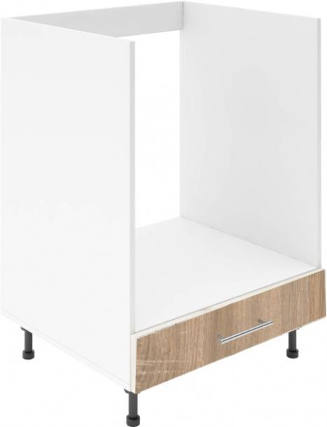 Крафт D8 долен шкаф за фурна 60см, дъб сонома