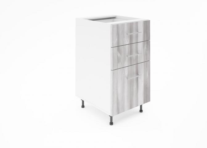 Крафт D3 долен шкаф с три чекмеджета 45см, дъб пикардия