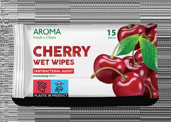 Мокри кърпички Aroma Fresh&Clean Cherry