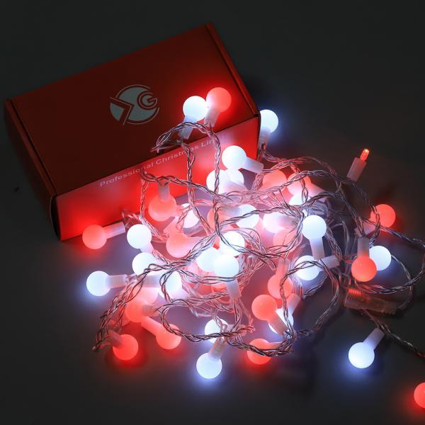 Светещ гирлянд  IN 5m,25 LED бели + 25  розови LED топки