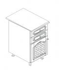 Талпи долен шкаф с две чекмеджета и една врата с решетка 40х60х89