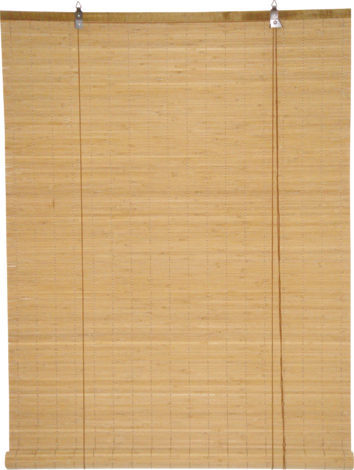 Бамбукови щори 120х180 см, кафеви, широки ламели