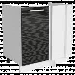 Трейси Шкаф долен ъглов Н 80х82x56 см, черен дъжд