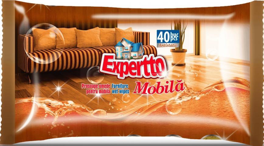 Мокри кърпи мебели 40 бр Experto