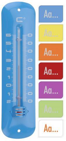 Термометър 19см цветни