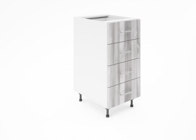 Крафт D4 долен шкаф с четири чекмеджета 40см, дъб пикардия