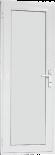 Алуминиева врата за баня 68/198см лява бяла