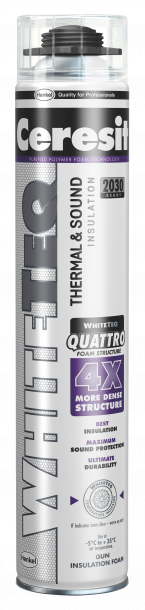Пистолетна полиуретанова пяна Ceresit WHITETEQ 750 мл