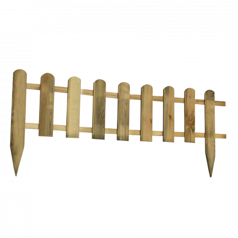Дървена оградка  28/45x114 см