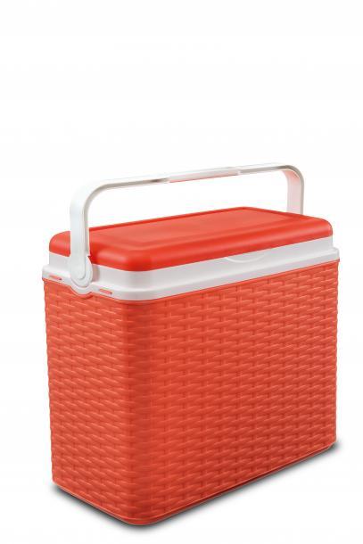 Хладилна кутия 24л, ратан - оранжево