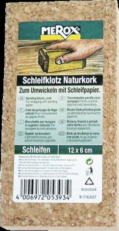 Шлайфгрифер корк 60х120 мм
