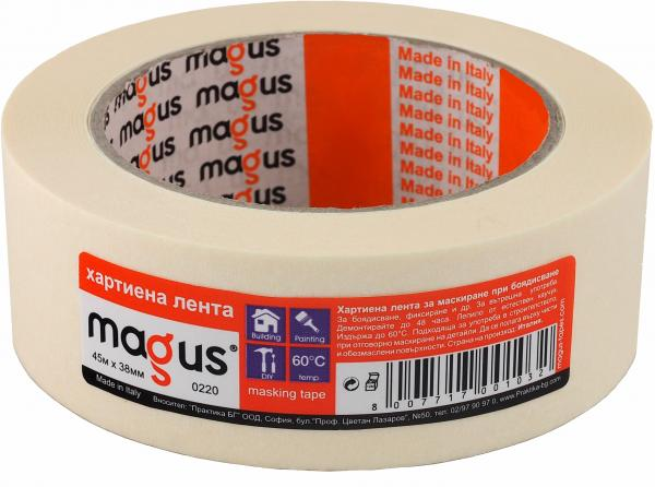 Лента за боядисване МАГУС 60° 45м/38мм