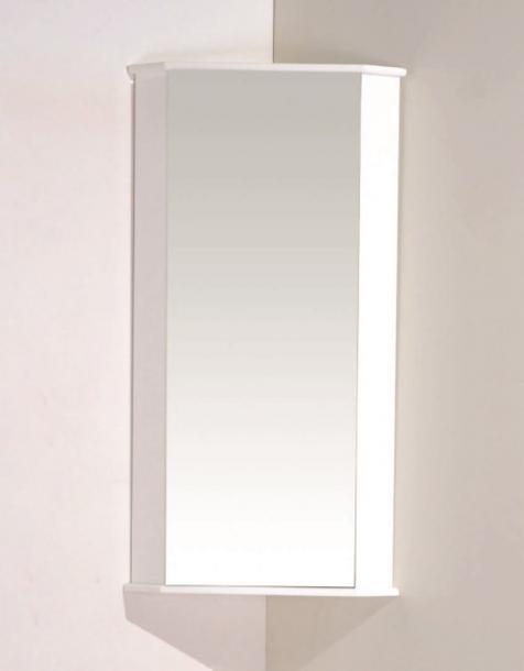 Огледален ъглов шкаф