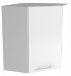 Трейси Шкаф горен ъглов В 60-60х72x34 см, бял
