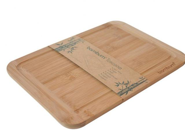 Бамбукова дъска за рязане, голяма 2