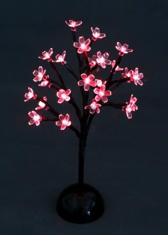 Цъфнало дърво 24 червени LED IN