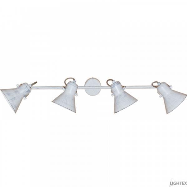 Спот SANTOS четворка E27 бяло+сребро метал