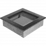 Решетка 17/17 см сребърно/черно