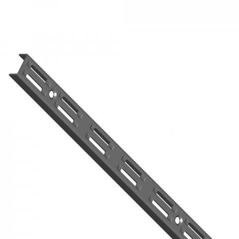 Шина за стена двуредова черна 1000мм