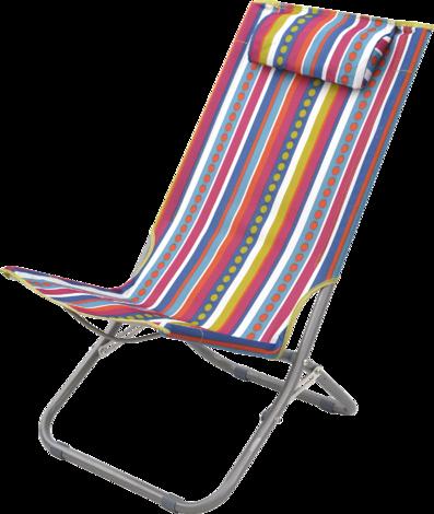 Плажен стол, раиран