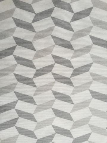 Плат за перде  Geometrico 140 см, сив/беж