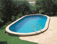 Овален басейн за вкопаване 600x320х150см