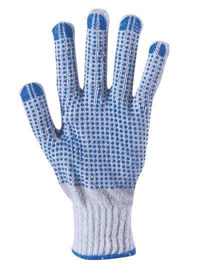 Ръкавици трико с PVC капки р-р 10 PLOVER