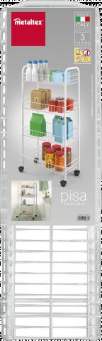 Етажерка на колелца PISA 4 нива 2