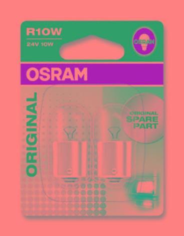 Aвт.лампа 10W Osram 24V BA15S