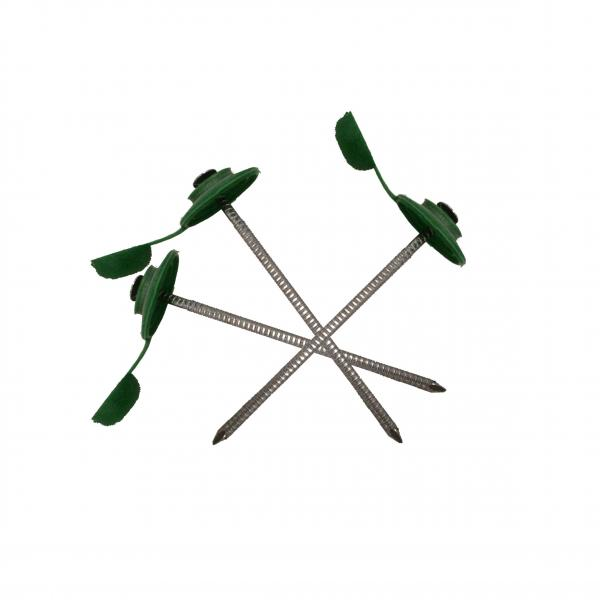 Пирони за вълнообразни плоскости, зелени, 100 бр