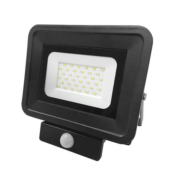 LED прожектор със сензор 30W 6000K IP65 черен